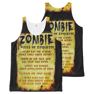 Zombie Etiquette All-Over Print Tank Top