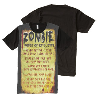 Zombie Etiquette All-Over Print T-Shirt