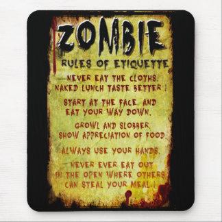 Zombie Etiquette Mousepad