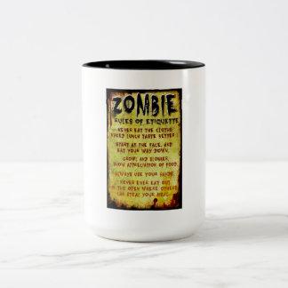Zombie Etiquette Coffee Mug