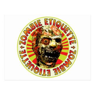 Zombie Etiquette Postcard