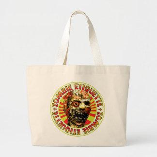 Zombie Etiquette Canvas Bags