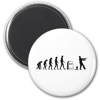Zombie Evolution 6 Cm Round Magnet