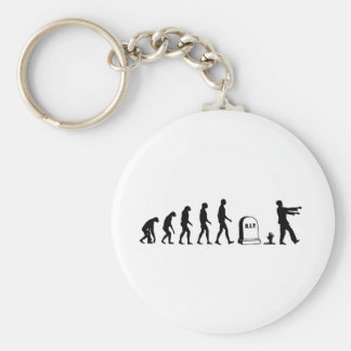 Zombie Evolution Basic Round Button Key Ring