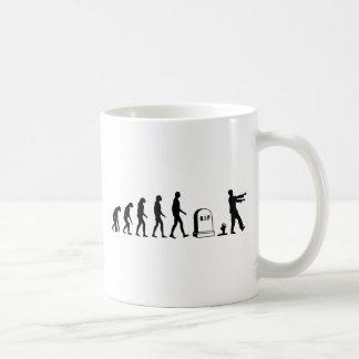 Zombie Evolution Basic White Mug