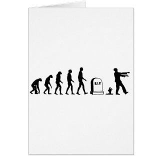 Zombie Evolution Greeting Card