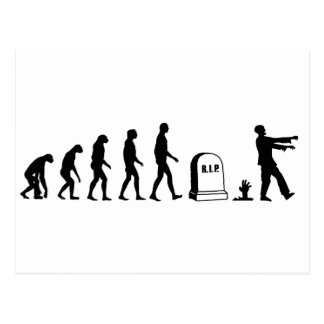 Zombie Evolution Post Card