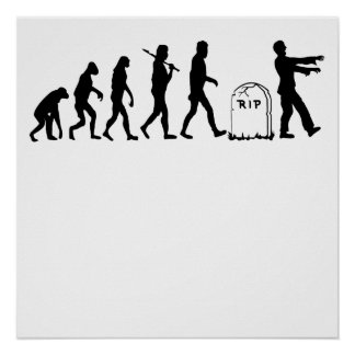 Zombie Evolution Poster