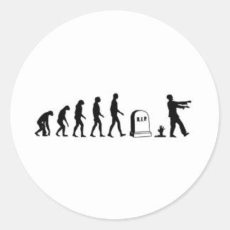 Zombie Evolution Round Sticker