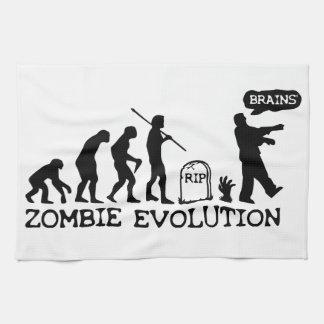 Zombie Evolution Tea Towel