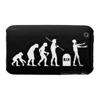 Zombie Evolutionary evolution chart funny science iPhone 3 Cover
