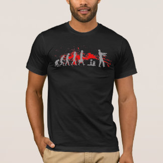 Zombie Evolutionary evolution chart funny science T-Shirt