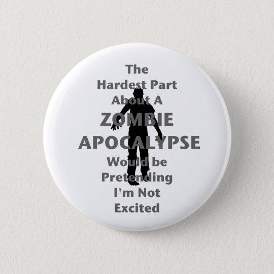 Zombie Excited 6 Cm Round Badge
