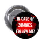 Zombie Expert (black) 6 Cm Round Badge