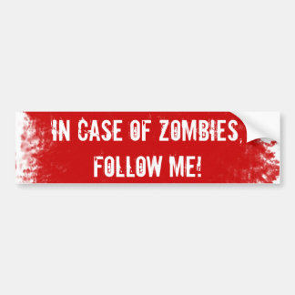 Zombie Expert Label Bumper Stickers