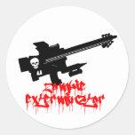 Zombie Exterminator Round Sticker