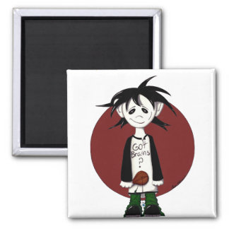 zombie EYE Square Magnet