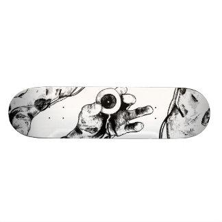 Zombie eyeball 19.7 cm skateboard deck