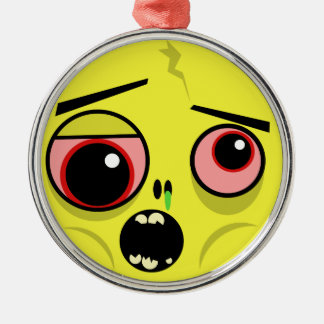 Zombie Face Christmas Ornament