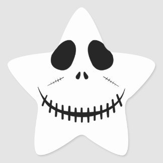 Zombie Face Star Sticker