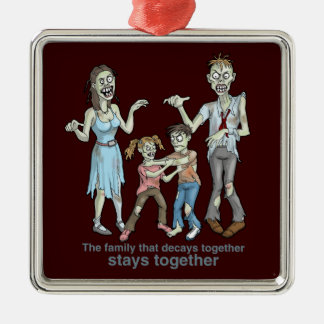 Zombie Family Decay Christmas Ornament