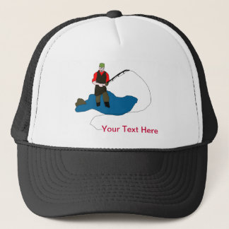 Zombie Fisherman Funny Ball Cap
