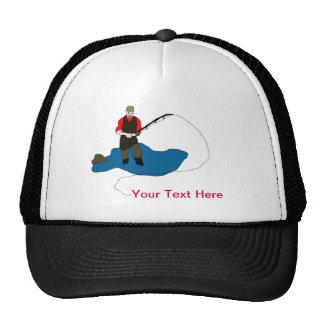 Zombie Fisherman Funny Ball Cap Trucker Hat