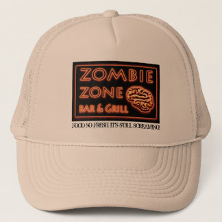 Zombie Food So Fresh Still Screaming Halloween Trucker Hat