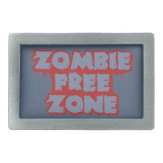 Zombie Free Zone custom belt buckle