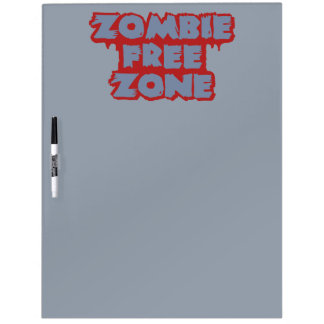 Zombie Free Zone custom message board