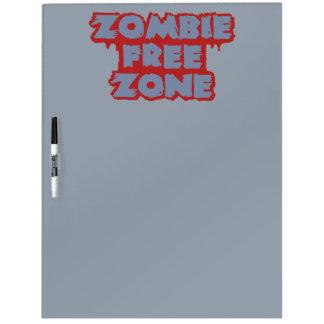 Zombie Free Zone custom message board Dry Erase Whiteboards