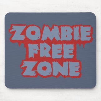 Zombie Free Zone custom mousepad