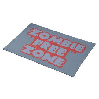 Zombie Free Zone custom placemat