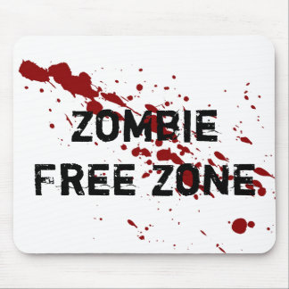 Zombie Free Zone Mouse Mat