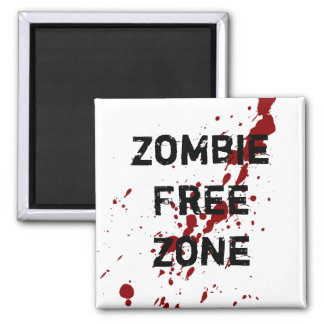 Zombie Free Zone Square Magnet