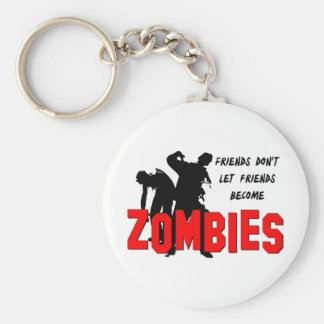 Zombie Friends Basic Round Button Key Ring