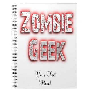 Zombie Geek Red Spiral Note Books