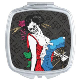 Zombie Geisha Travel Mirror