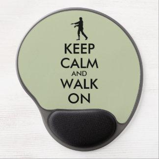 Zombie Gel Mousepad Customisable Keep Calm Walk On