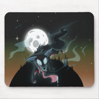 Zombie Ghost Wolf Mousepad