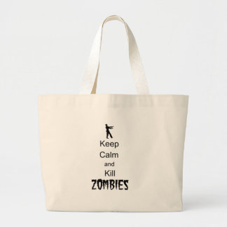 Zombie Gift Keep Calm and Kill Zombies Large Tote Bag