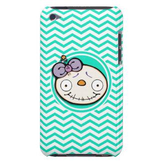 Zombie Girl Aqua Green Chevron Case-Mate iPod Touch Case