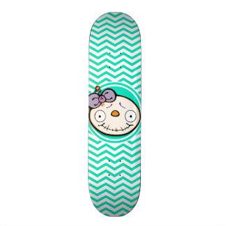 Zombie Girl Aqua Green Chevron Skateboards