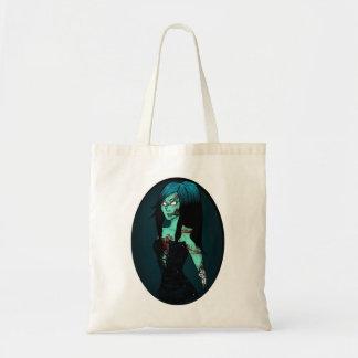 Zombie Girl in Corset Bag