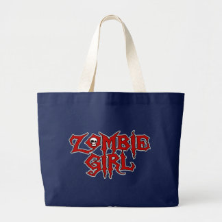 Zombie Girl Large Tote Bag
