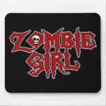 Zombie Girl Mousepads