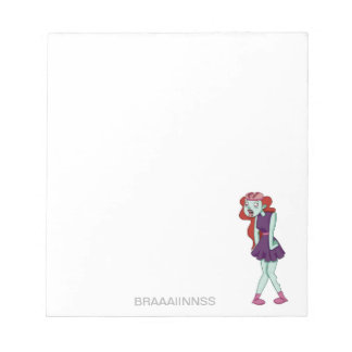 Zombie girl note pad