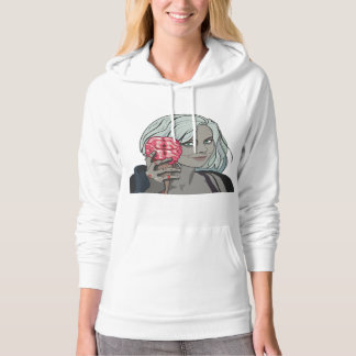 zombie girl pullover hoodie