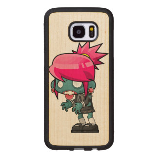 Zombie Girl Wood Samsung Galaxy S7 Edge Case