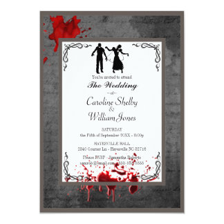 Zombie Gothic Elegant Wedding Invitation